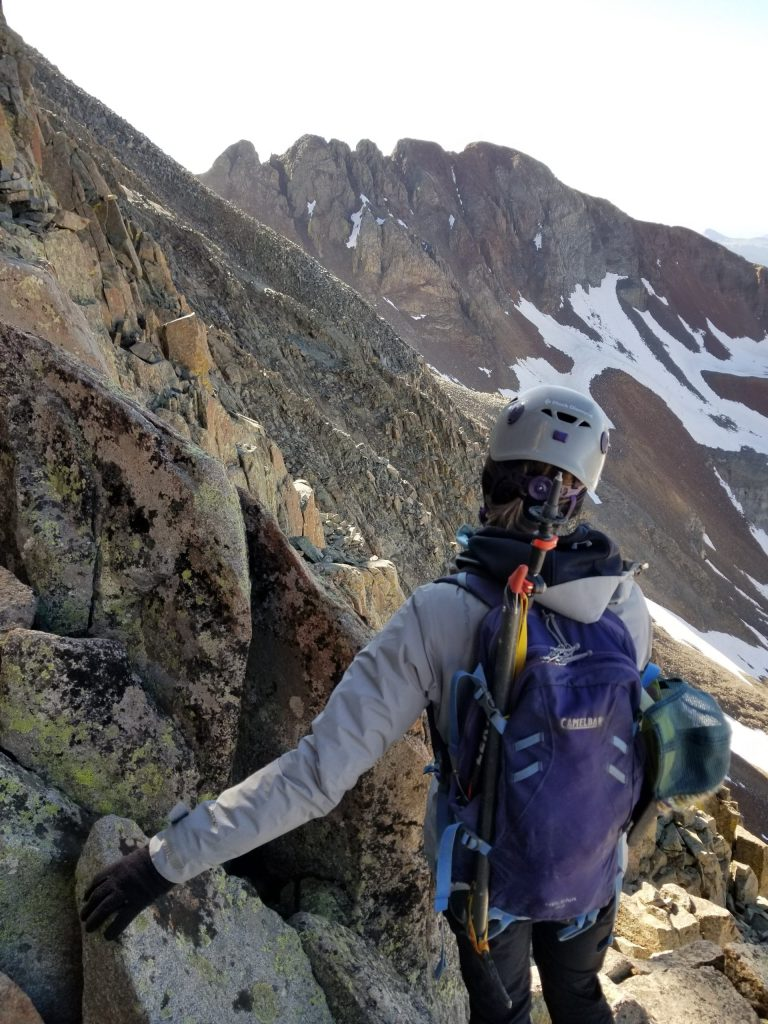 On the El Diente Mt. Wilson Traverse