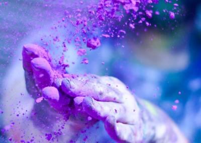 Limpeza pessoal com energia violeta