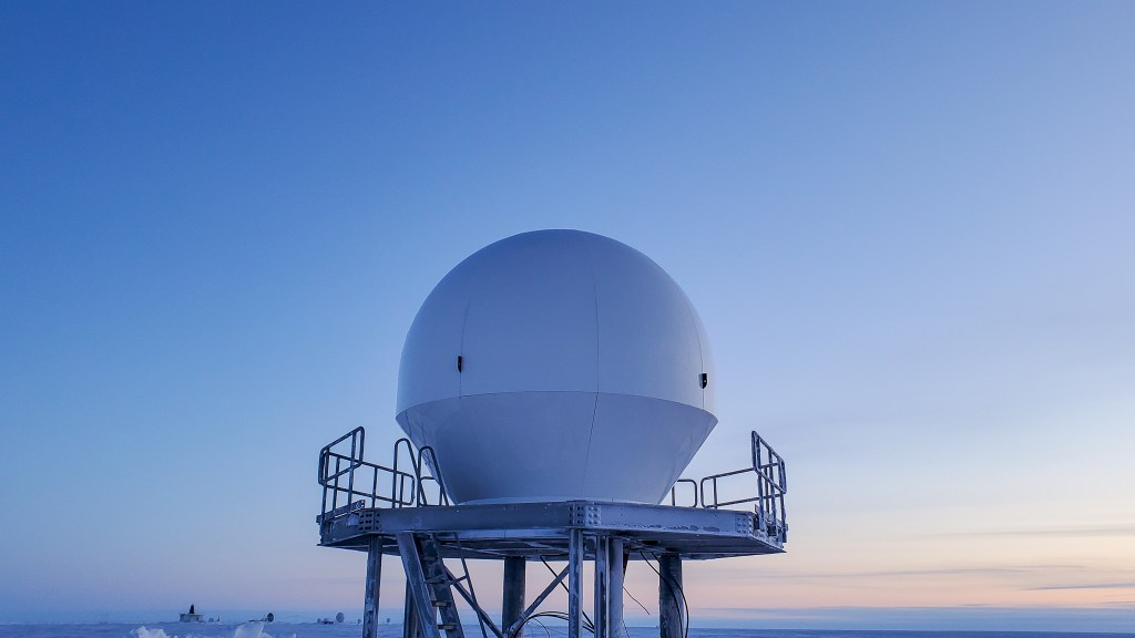 ATLAS Space Operations and Quintillion 3.5M S/X-Band antenna in Utqiagvik, Alaska