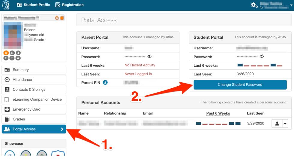 Screenshot of the Portal Access tab