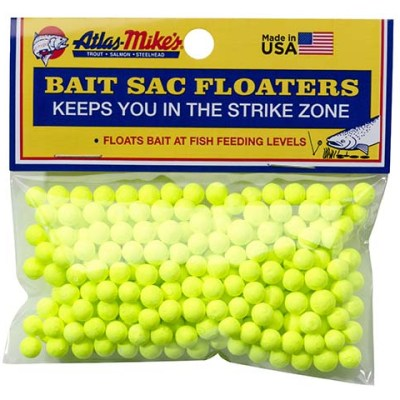 99007 Atlas Mike's Bait Sac Floaters Chartreuse
