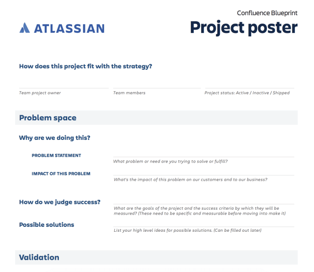 project poster template