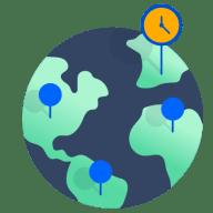 Globe demonstrating Jira Service Desk SLAs around the globe