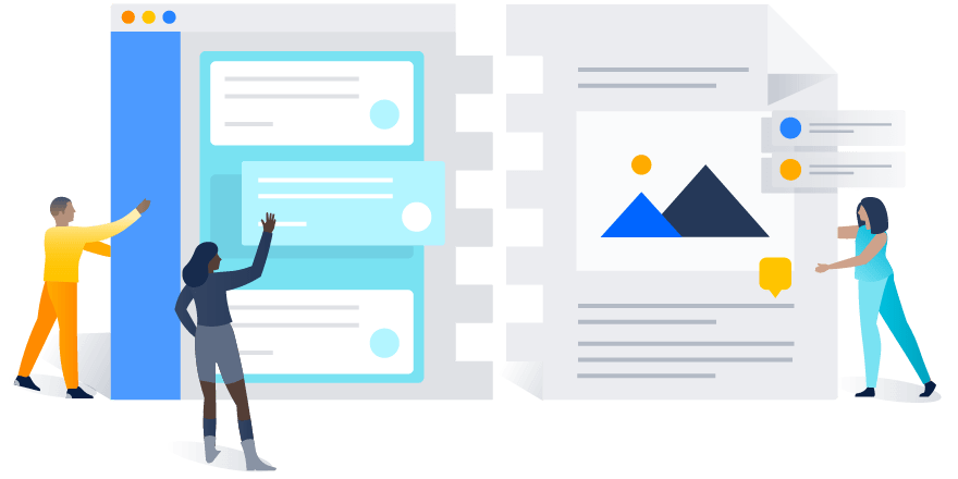 Jira and Confluence being pieced together like a puzzle