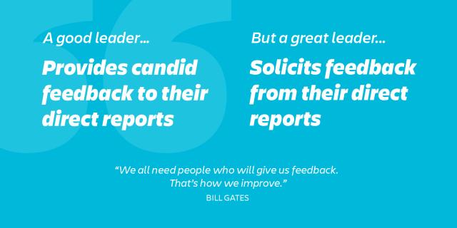 great leaders ask their people for feedback