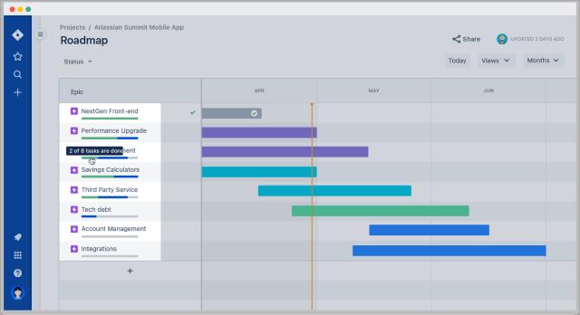 jira roadmap progress bar