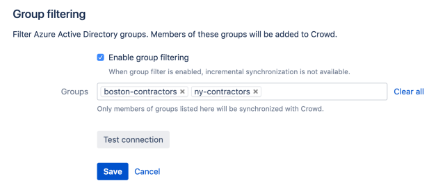 filter users by group membership in Crowd Data Center