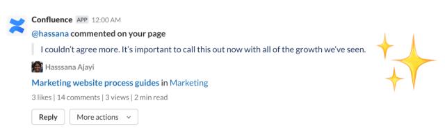 Confluence comment screenshot