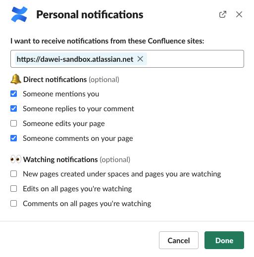 personal notifications screenshot