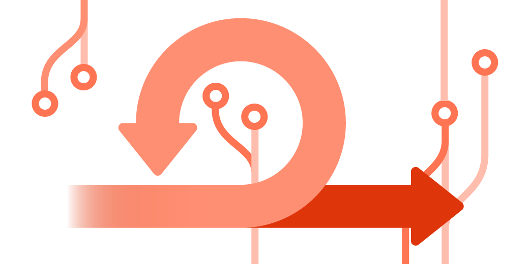 Arrows illustration for agile development