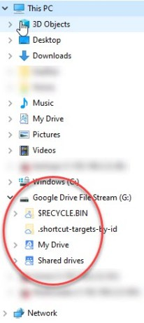 G: Drive listed in My Computer for Windows