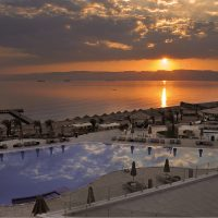 Sunset at Berenice Beach Club in Aqaba