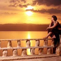 Romantic Dead Sea Sunset