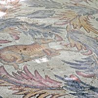 Original Mosaic Floor from the Old Memorial - Mount Nebo