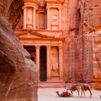 The Treasury as seen from The Siq in Petra