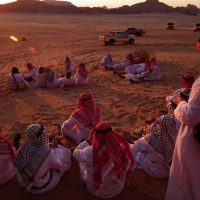 Sunset Watching in Wadi Rum