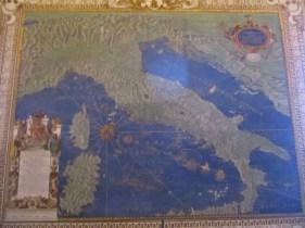 Eine alte Karte von Italien