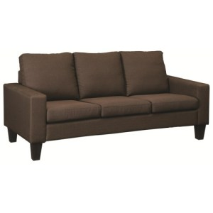 Bachman Sofa with Track Arms and Tapered Wood Legs