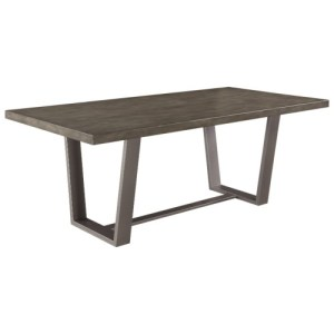 Hutchinson Modern Dining Table with Composite Concrete Top