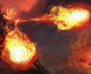 Edmund's twin firebolt