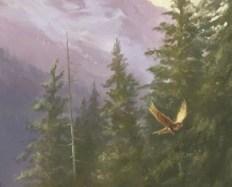 Vinnik, Edmund's owl familiar. Stubborn, powerful, fat.