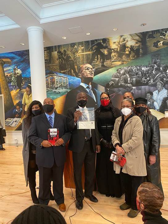 Lisette Salado, Reggie Wood, Attorney Ben Crump, Ilyasah Shabazz, Quibilah Shabazz, Gamilah Shabazz and Attorney Ray Hamlin. Photo Courtesy of Ben Crump Law