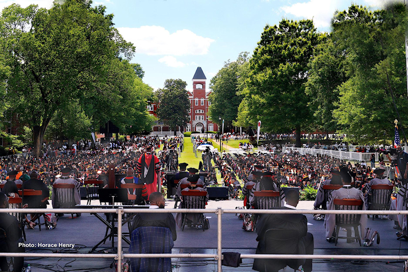 Clark Atlanta University's 2021 afternoon graduation ceremonies where more than 750 students received their diplomas. Photo by Horace Henry