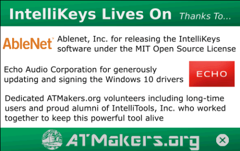 splash screen logo of ATMakers and Ablenet