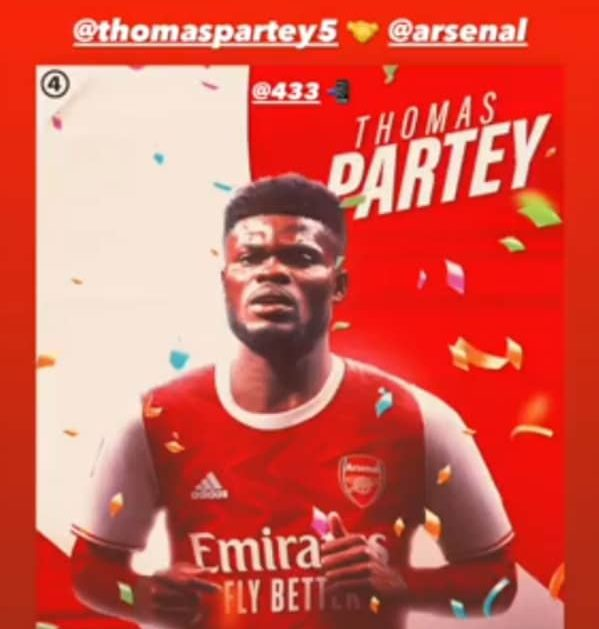 Arsenal signed Thomas Partey