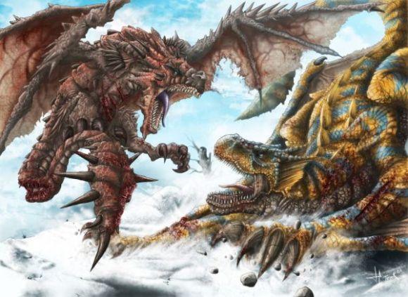 rathalos-vs-tigrex-terek-c-art