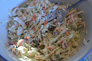 grannie geek creamy coleslaw with a little kick