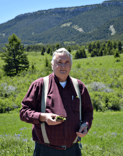 grannie geek richard in the pryor mountains