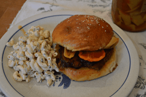at mimis table beef brisket and macaroni salad