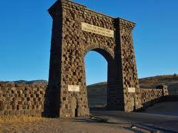 grannie geek Roosevelt Arch - Yellowstone National Park at Gardiner, North Entrance