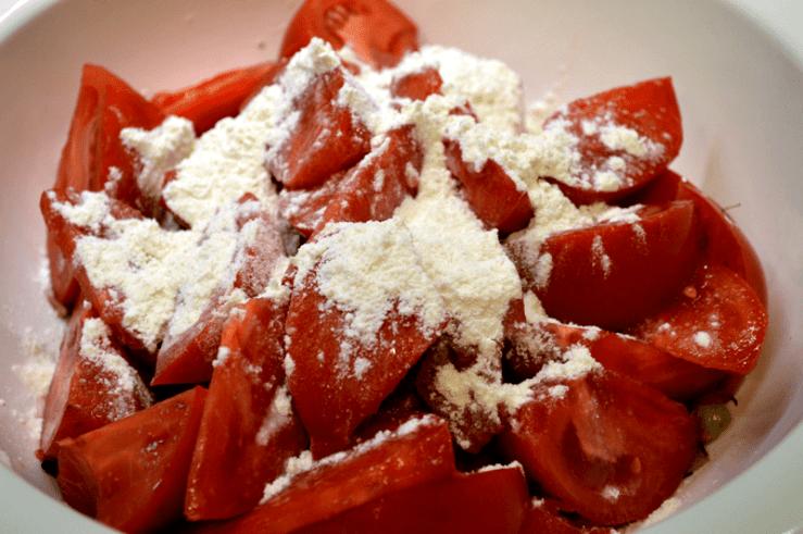 grannie geek, tomatoes and flour