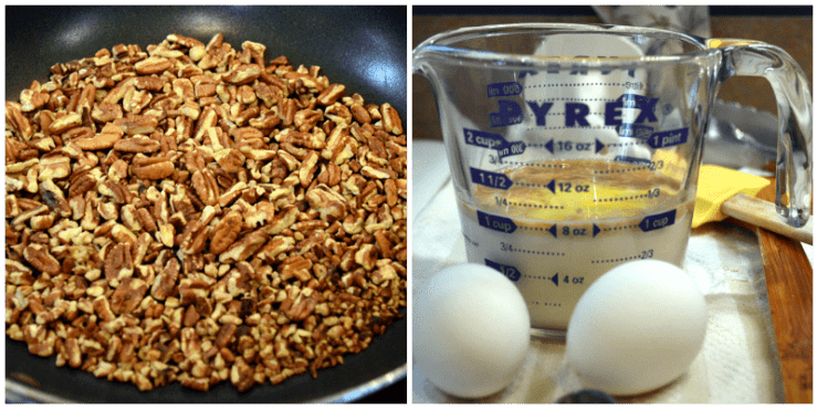 grannie geek, pecans, milk, eggs