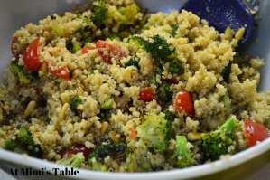 at mimi's table roasted broccoli quinoa and tomato salad