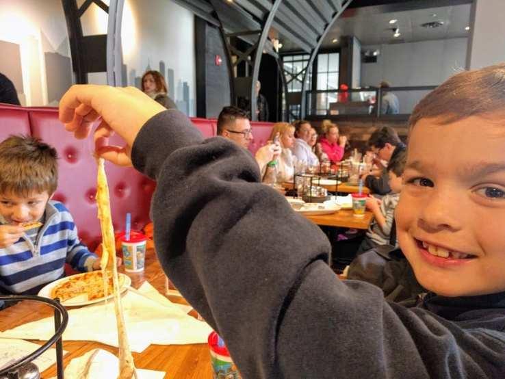 at mimi's table Giordano's very cheesy pizza
