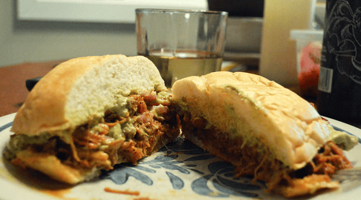 at mimi's table pati's mexican table chicken pilbil sandwich