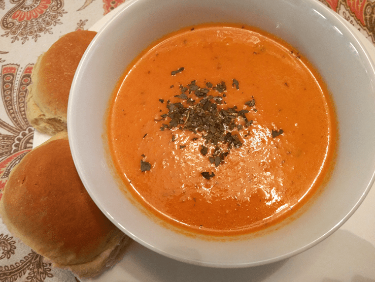 at mimi's table homemade creamy fresh tomato soup