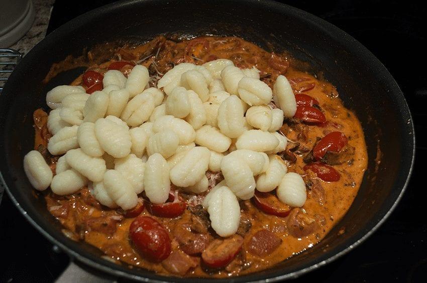 at mimi's table baked gnocchi with bacon, tomato and mozzarella 5