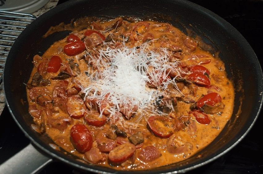 at mimi's table baked gnocchi with bacon, tomato and mozzarella 6