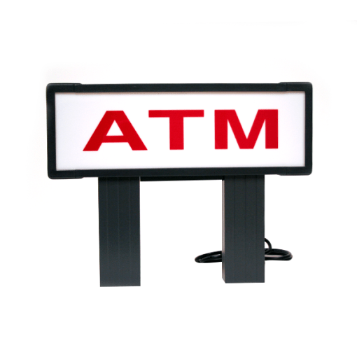 Red and White Low ATM Topper for Tranax/Genmega 1700, 1700W, G1900, G2500