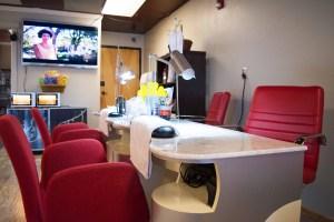 Interior of a nail salon