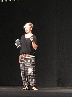 Sara up on stage