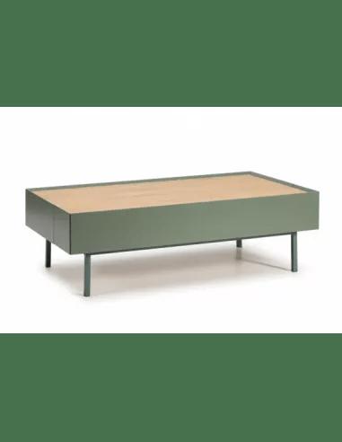 meuble bas salon arista 2 tiroirs vert