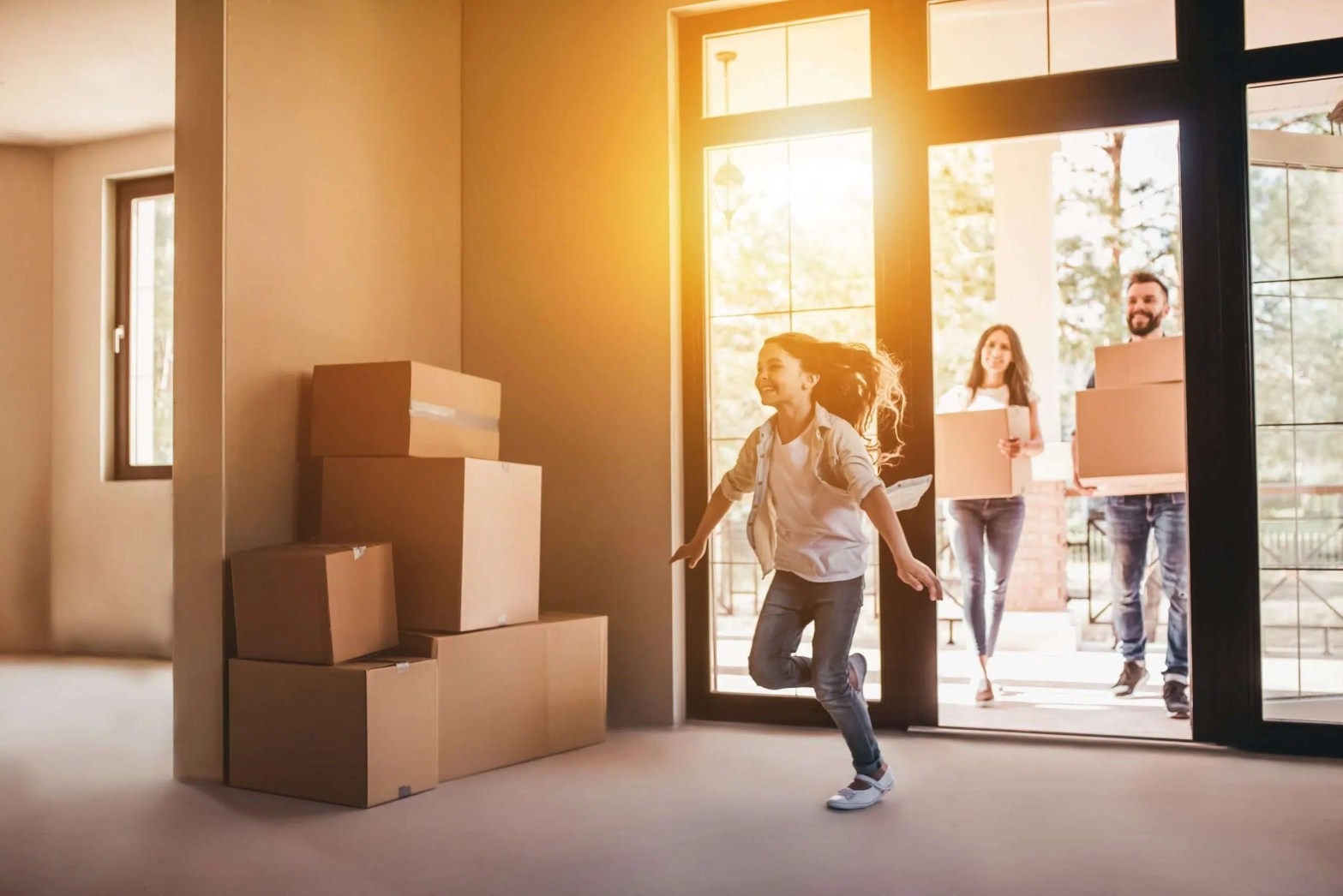 how to move into new family home