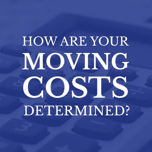 How are Your Moving Costs Determined?