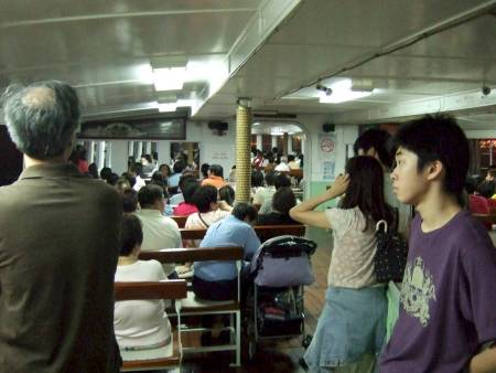 Hong Kong, covered bridge ferry to Kowloon