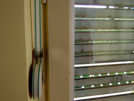 Wood shutter mechanical old winder